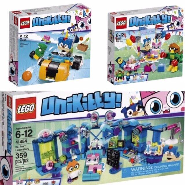 Lego Bundle Unikitty Dr Fox, Party Time, Puppycorn 41452 & 41453 & 41454