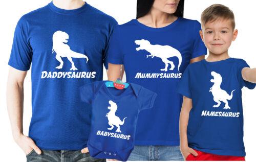 mummysaurus daddysaurus T-Rex Dinosaurio Familia camisetas y bebé crezca Conjunto