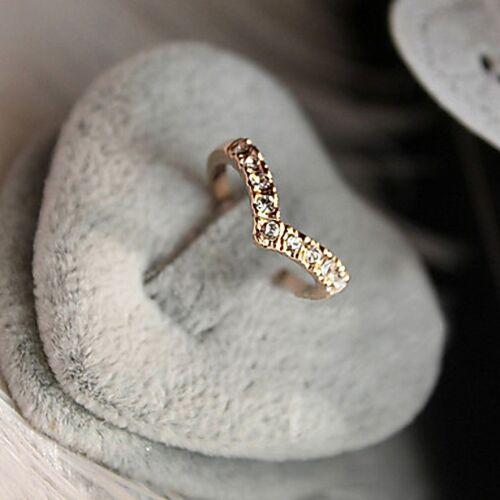 dorado y plateado con piedras para mujer Anillo forma de corazon