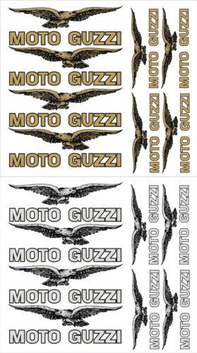 kit MOTO GUZZI decal sticker set GOLD SILVER WHITE