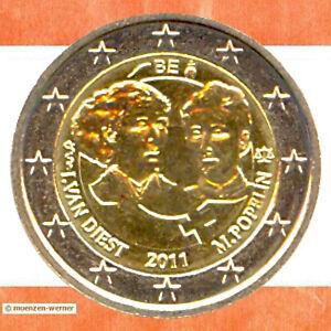 Sondermünzen Belgien 2 Euro Münze 2011 Frauentag Sondermünze