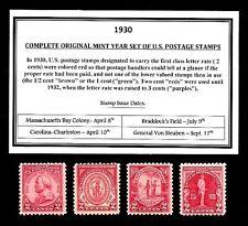 1930 - 1939 COMMEMORATIVE DECADE SET OF MINT -MNH- VINTAGE U.S. POSTAGE STAMPS