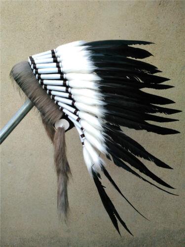Indian feather headdress chief warbonnet halloween decor