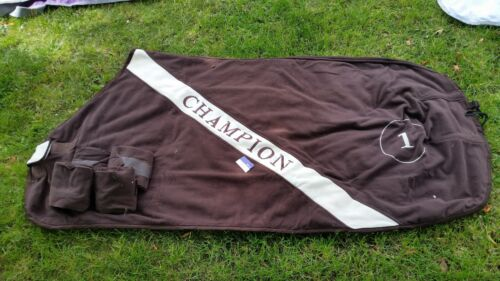 5ft6 chocolate brown show fleece our ref A 464
