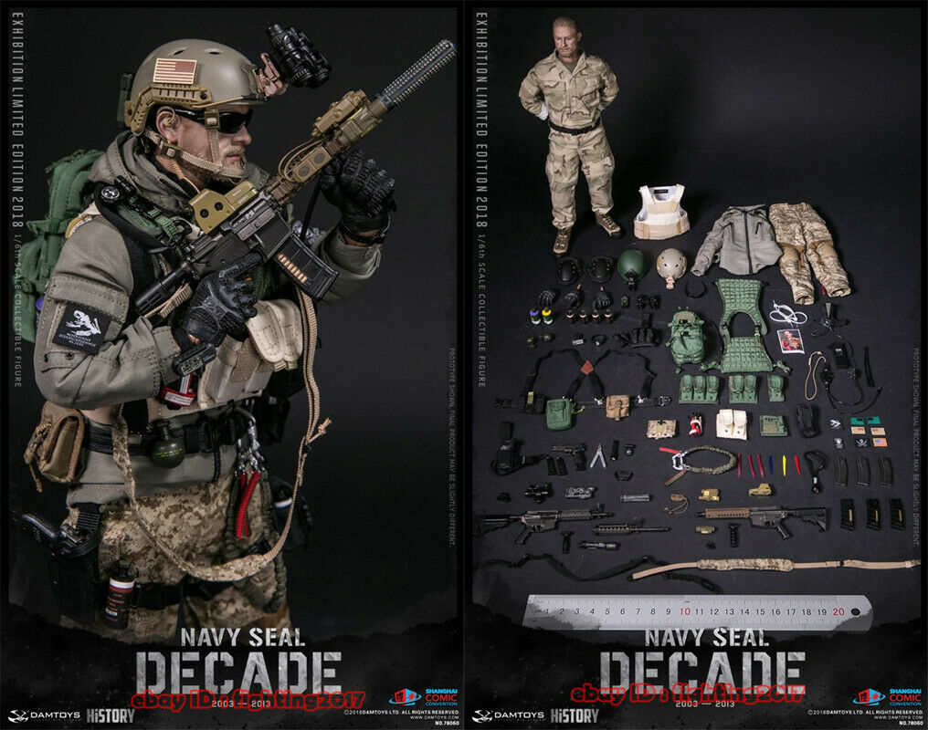 DAMTOYS 1 6 2018 SHCC DECADE NAVY SEAL 2003-2013 DAM78060 Action Figure Limited