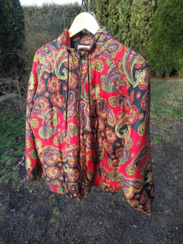 Pure silk paisley bomber jacket, Robert Stock vint