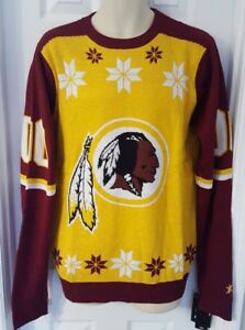 Image is loading WASHINGTON-REDSKINS-Sweater-Large-Ugly-Christmas-Holiday -Front- 001fe5ff3