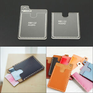 Details About Diy Portfolio Leather Template Craft Acrylic Wallet Pattern Stencil Tool Diy Set
