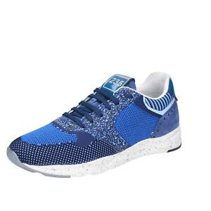 Chaussures-Hommes-BRIMARTS-42-UE-Baskets-Bleu-Textile-Daim-bt424-42