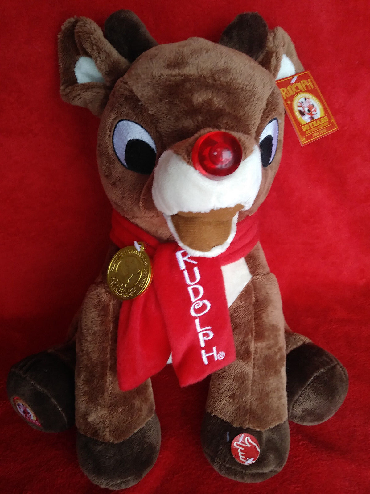 RUDOLPH RUDOLPH 15  Lighted Musical Plush DanDee 2014 rudolph misfit toys NEW