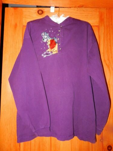 Vintage Disney Lady And The Tramp Henley Shirt Lar