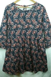 Boden-Boho-Floral-3-4-Sleeve-Hippie-Festival-Above-Knee-Top-Dress-Sz-10P