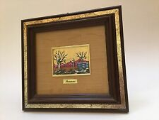 Vintage Oil Painting Gold Foil Handmade in Italy Certificate of Guarantee