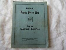 Ih International Farm Tractor Engines Parts Price List Catalog Manual