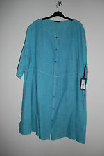 OSKA 100% Linen Turquoise Dress Size 2 - UK 12/14 New With Tags £179
