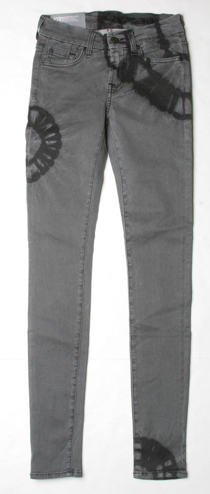 7 For All Mankind Gwenevere Super Skinny Jeans (27) Crystal Wash Grey AU0168660