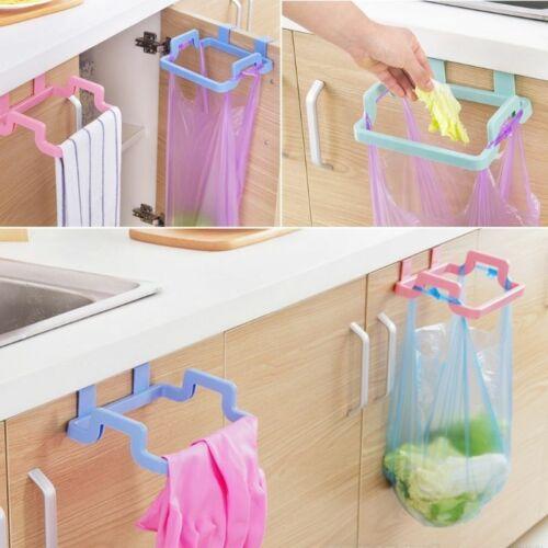Kitchen Rooms Portable Rubbish Trash Bag Holder Cabinets Cloth Rack Towel Rack