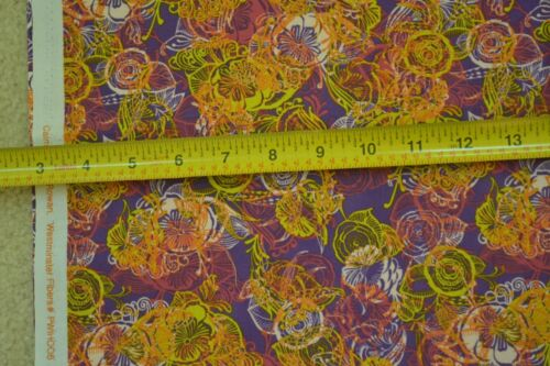 """44/"""" Wide By-the-1//2-Yard Rowan M6886 Bright Colors on Purple Quilter/'s Cotton"""