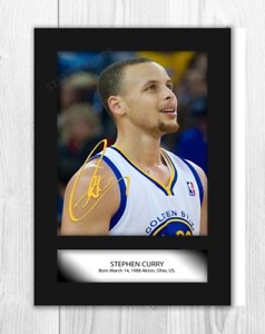 Stephen Curry Golden State Warriors A4 Signed Mounted Poster Choice
