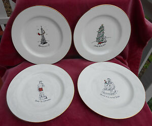 Image is loading MERRY-MASTERPIECES-SALAD-PLATES-4-ABE-LINCOLN-EIFFEL- & MERRY MASTERPIECES SALAD PLATES 4 ABE LINCOLN EIFFEL TOWER PISA ...