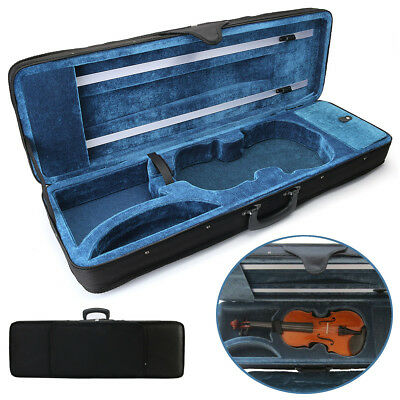 4/4 Size Oxford Fabric Black rectangle Shape Violin Box Portable Carry Hard Case