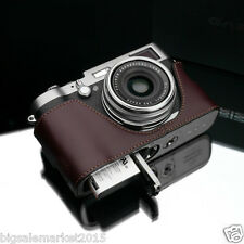 New GARIZ FUJI X100T Leather Half Case Brown For FinePix X100T X100S X100 Case