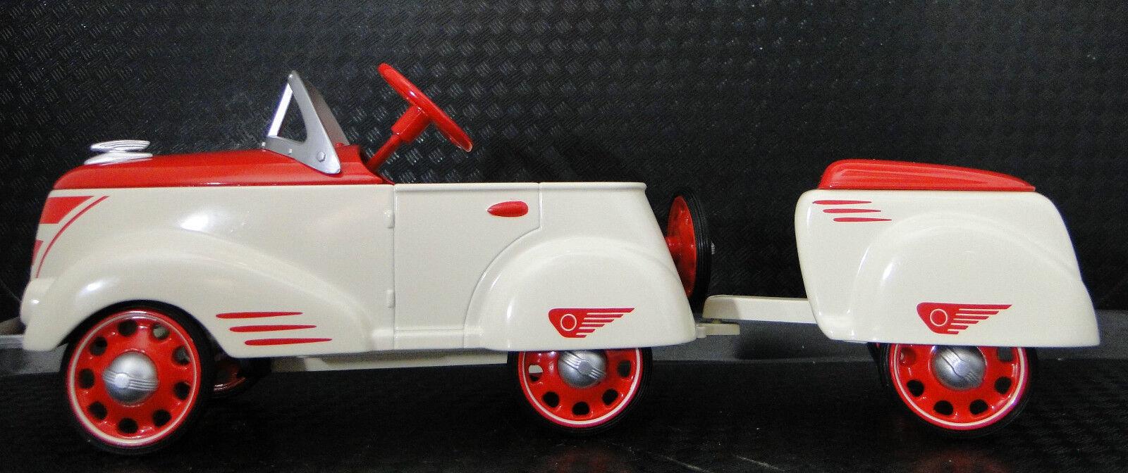 Auto A Pedal Raro 1940 Ford W Remolque Vintage T Deporte Metal    leer la descripción completa