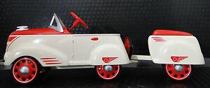 SALE-Pedal-Car-Rare-1930-Ford-wTrailer-Vintage-T-Metal-gt-gt-gt-READ-FULL-DESCRIPTION
