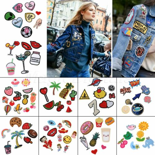 1 Set Craft Embroidered Sew On / Iron On Patches Badge Bag Dress Fabric Applique
