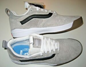 7eb1d2af03e6e2 Vans Mens UltraRange Pro Drizzle Grey White Suede Skate Casual shoes ...