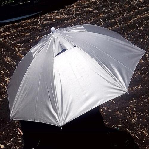 Outdoor Radfahren Angeln Regenschirm Hut Raining oder Sun Kopf Schirmmütze 1X
