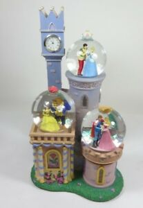 Details About Disney Cinderella Sleeping Beauty Beauty And The Beast Snow Globe Music Box