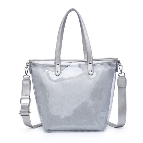 Woman Lady Synthetic Leather Neo LOVELY JELLY S-Medium Tote Shoulder Handbag