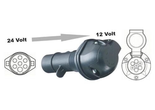 auf 7 V 7 pol. Spannungsreduziergerät Spannungswandler Adapter 24 V 7 pol