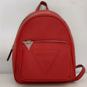 NEW-GUESS-BALDWIN-PARK-COLLECTION-RED-TRAVEL-BACKPACK-BAG-PURSE-SALE