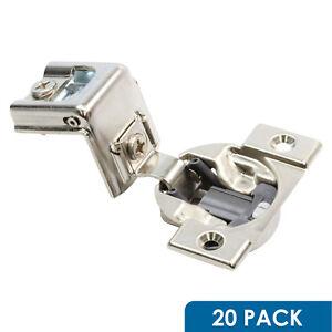 """25 Pack Blum 39 C Cabinet Hinges 1-1//4/"""" Overlay Screw-On Self-Closing 39C355C.20"""
