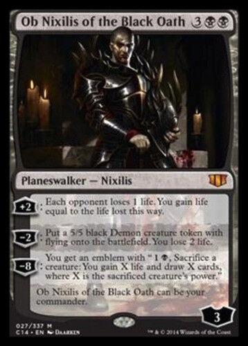 1x Ob Nixilis of the Black Oath NM-Mint, English Commander 2014 MTG Magic