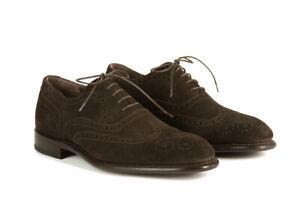 Neuf Canali Daim Marron Chaussures - à Lacets - (741101NSB40151)