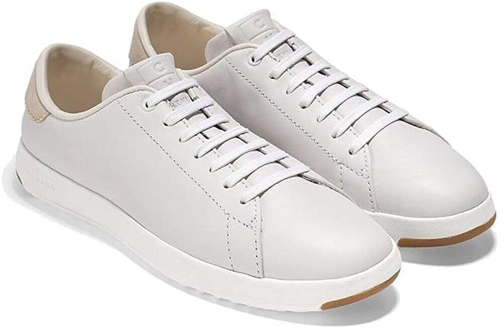 Cole Haan 258661 Womens GrandPro Leather Fashion Sneaker Optic White Size 9.5 B