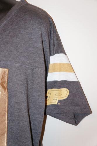 VICTORIA/'S SECRET LOVE PINK 01 T-SHIRT Shirt Tee Crop Grey Gold Cut Penn State