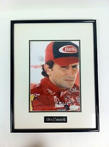 Signed-Alex-Zanardi-Framed-Picture-With-Serial-Number-USED