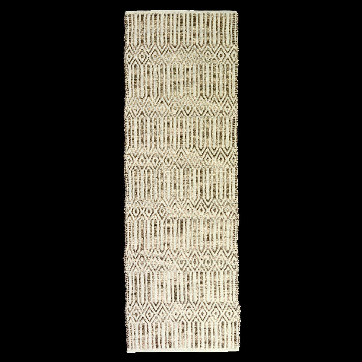 Madam Stoltz TAPPETO alfiere in crine vegetale marino in natura, 70x200 cm, Tappeto Corridoio, Boho