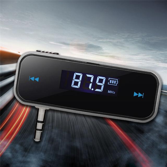 LCD FM Transmitter KFZ PKW LKW Auto Radio für MP3 Player 3,5mm Til Handy iP R6Z0