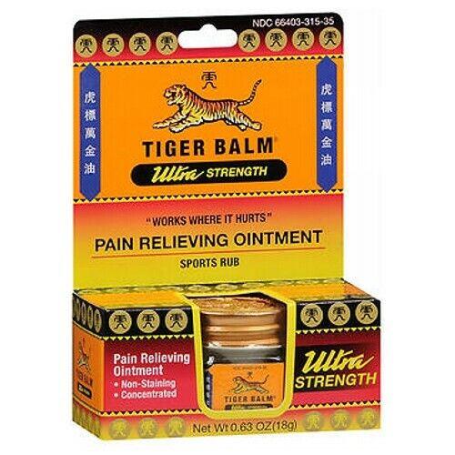 Tiger Balm Ultra Fuerza Alivio de Dolor Pomada 18G