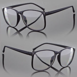 62cf61e52223 Image is loading Designer-Large-Retro-Clear-Lens-Nerd-Frames-Glasses-