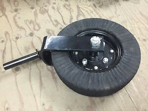 "15"" Tailwheel Assembly-1/4"" Fork Shank - Finish Mower Rotary Cutter Tail Wheel"