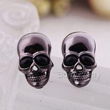 1 Paar Skull Ohrclip Ohrstecker Ohrring Earring Ear Studs modeschmuck