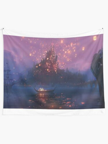 Wish Lanterns Colorfull Wall Tapestry Tangled Wall Hanging TV Movie Cartoon