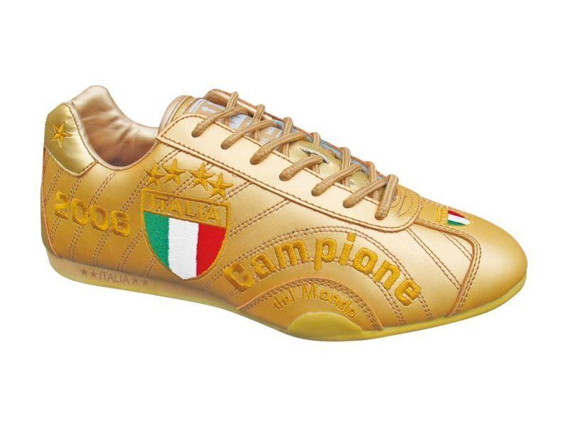 SPOOKS  ITALIEN  CAMPIONE   EM / WM  SCHUHE  LEDER  NEU  GOLD  FARBE  Gr : 38