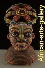57046 Große Helmmaske der Bamun Kamerun / Cameroon Afrika